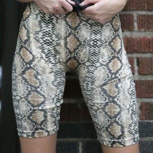 Pants - Everyday Snakeskin Bike Shorts